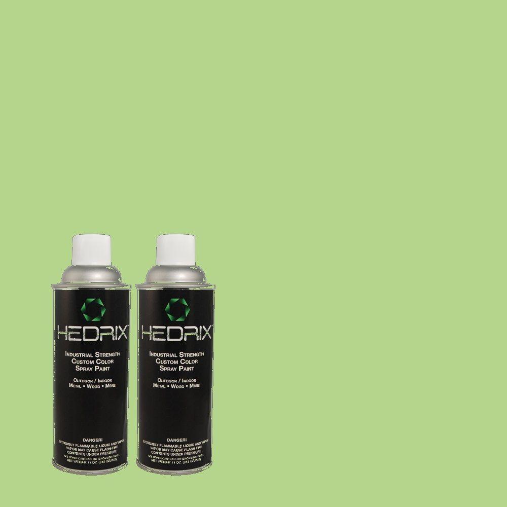 Hedrix 11 oz. Match of 1A57-4 Ivy Swirl Gloss Custom Spray Paint (2-Pack)