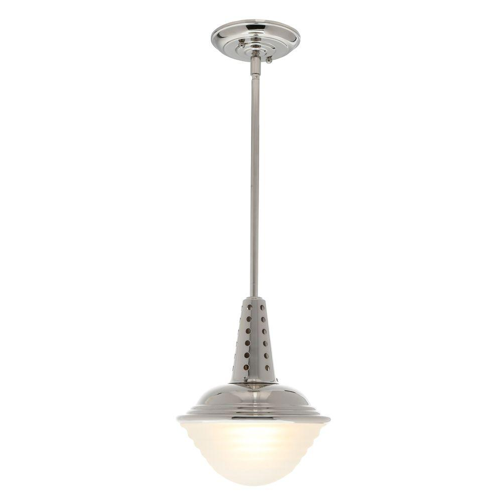 Feiss Urban Renewal 1-Light Polished Nickel Mini Pendant