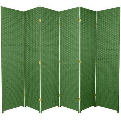 6 ft. Light Green 6-Panel Room Divider