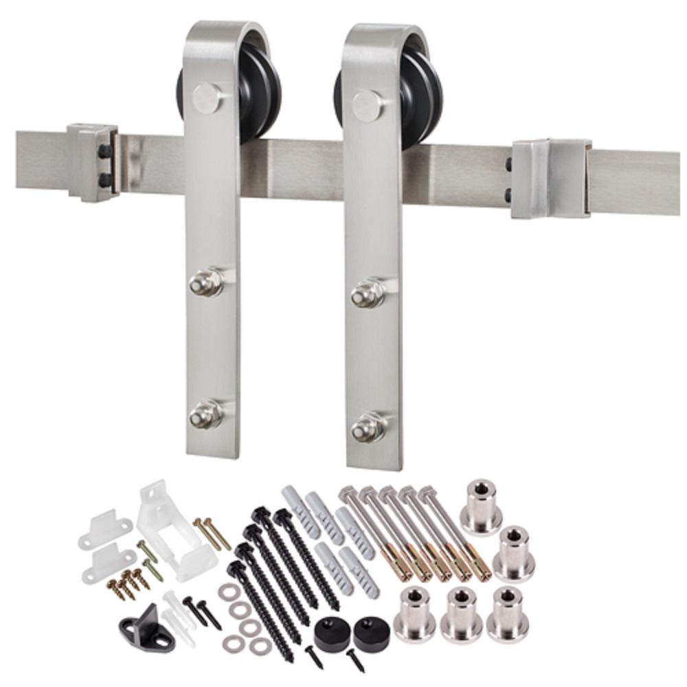MMI Door 78-3/4 in. Stainless Steel (Silver) Bent Strap B...