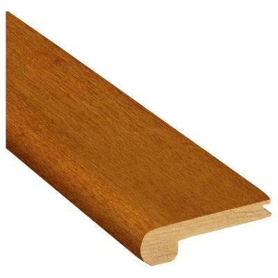 Gunstock Oak 3/4 in. Thick x 3-1/8 in. Wide x 78 in. Length Stair Nose Molding