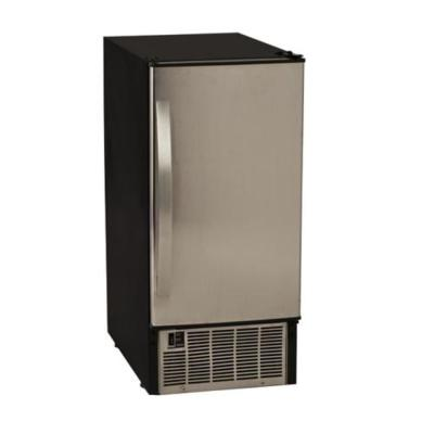 15 in. Wide 50 lb. Built-In Ice Maker in Stainless Steel and Black