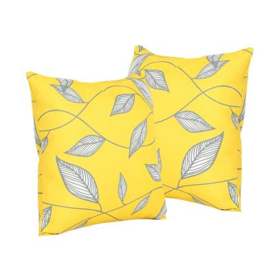 Trovata Yellow Square Outdoor Throw Pillows (2-Pack)