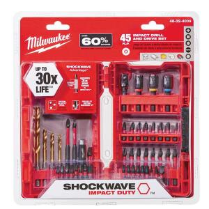 Shockwave Impact Duty Steel Drill and Driver Set (45-Pieces)