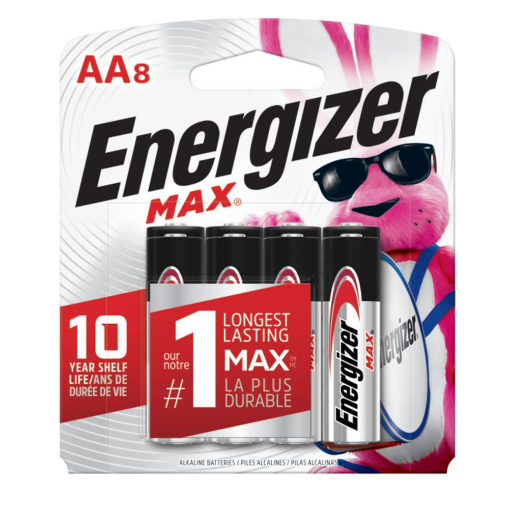 MAX Alkaline AA Battery (8-Pack)