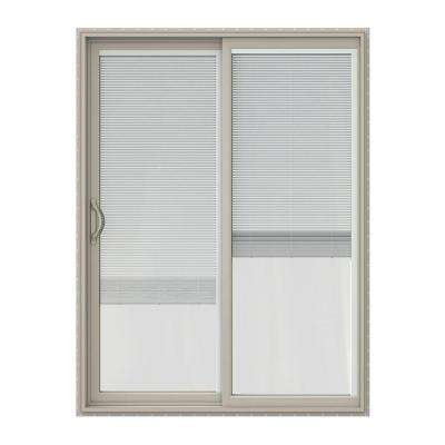 60 in. x 80 in. V-2500 Series Vinyl Sliding Patio Door with Blinds