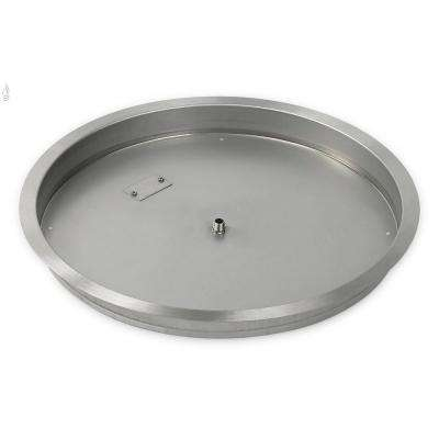 25 in. Round Stainless Steel Drop-In Fire Pit Pan (Fire Pit Ring not Included)