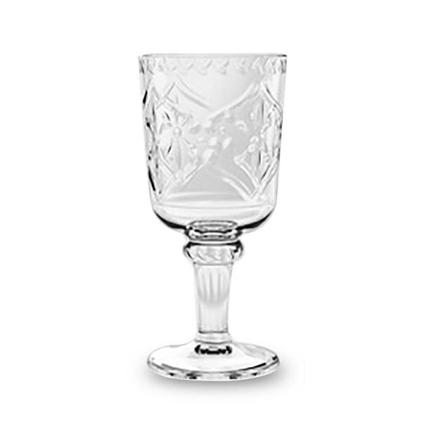 16.9 oz. 6-Piece Scroll Cut Clear Goblet Set PSCGB169SCGC