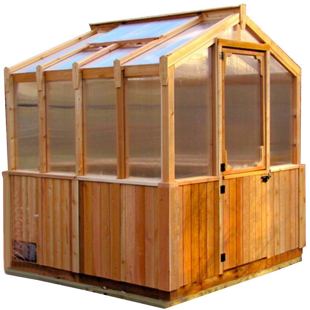 Outdoor Living Today 8 ft. x 8 ft. Greenhouse Kit