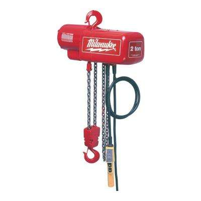 2 Ton 10 ft. Electric Chain Hoist