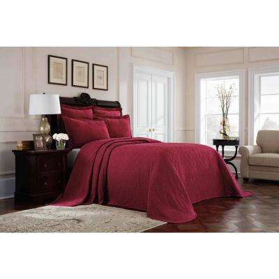 Williamsburg Richmond Red Twin Bedspread