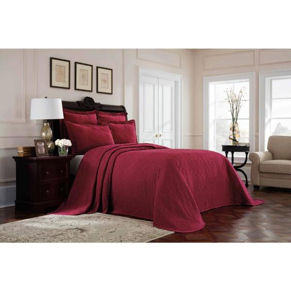 Williamsburg Richmond Red Solid Full Coverlet