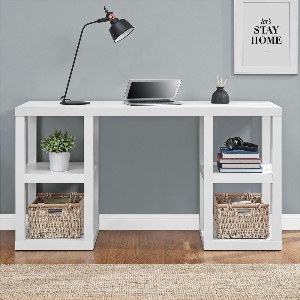 Altra Furniture Parsons White Desk 9318596com The Home Depot