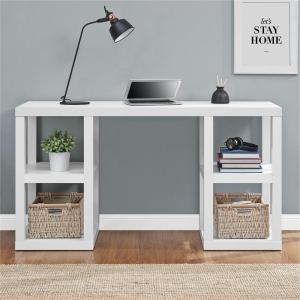 Altra Furniture Parsons White Desk by Altra Furniture