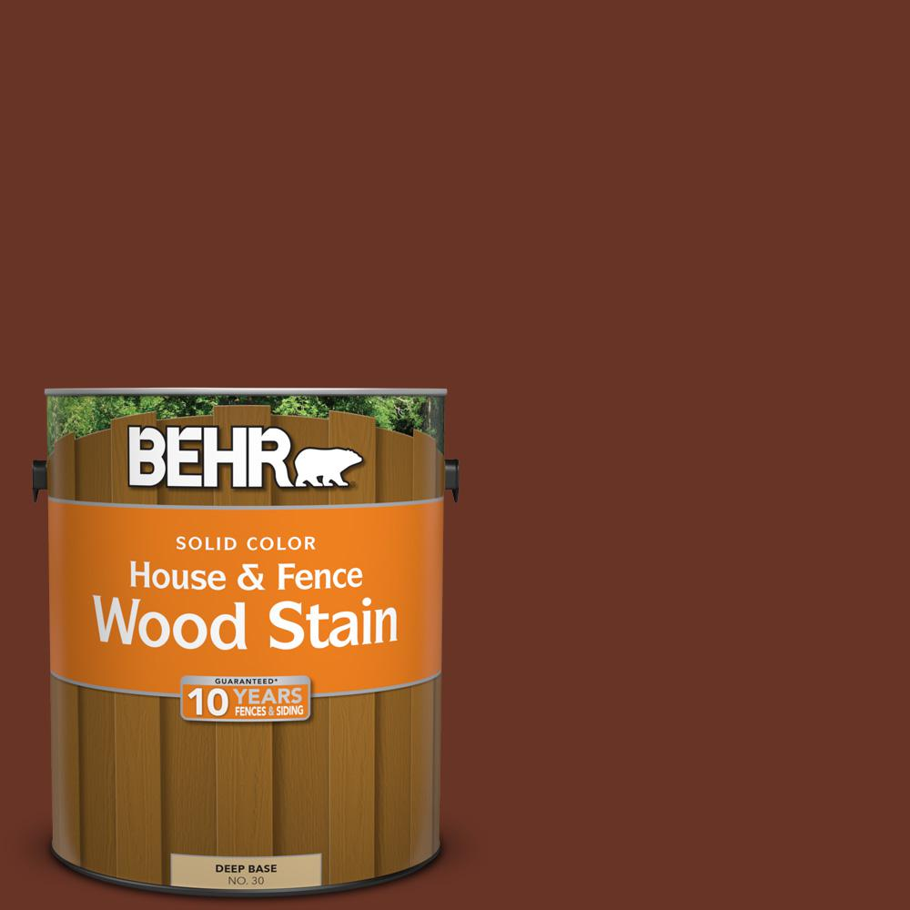 BEHR 1 gal. #SC-118 Terra Cotta Solid Color House and Fence Wood Stain