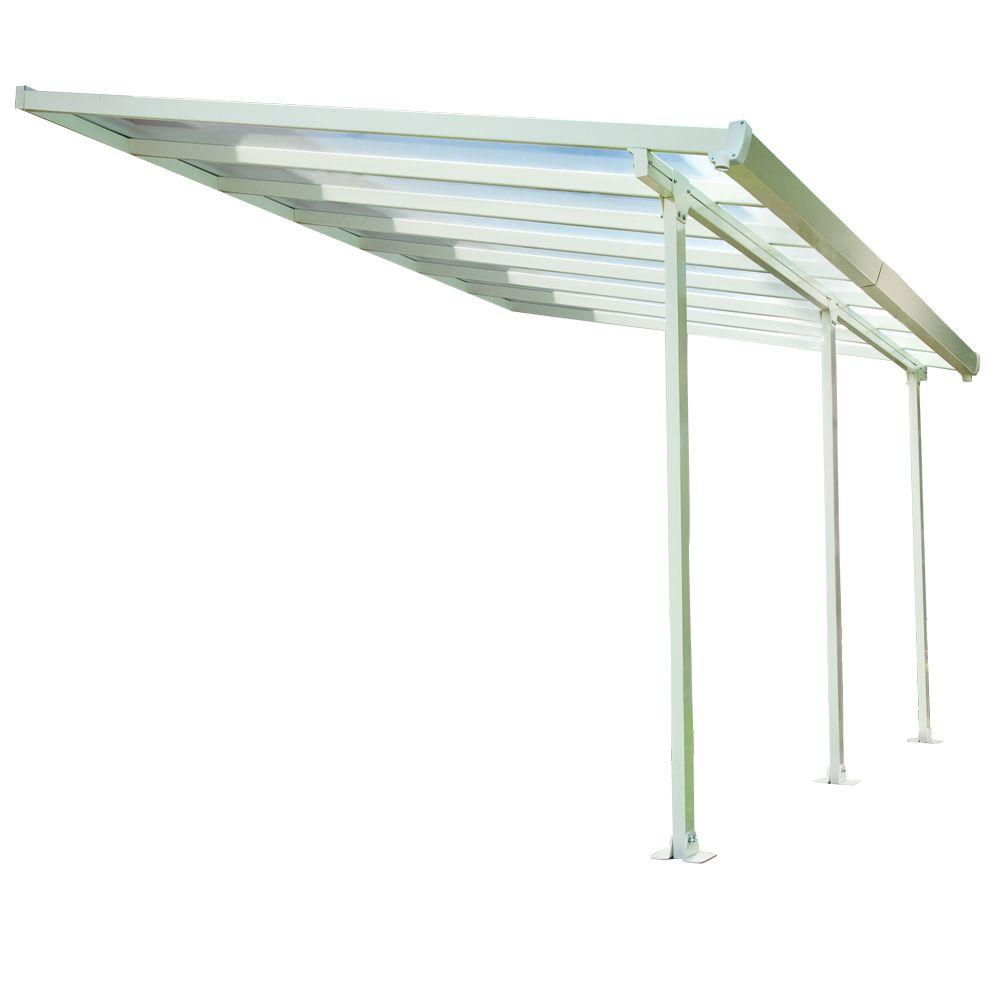 Palram 10 ft. x 14 ft. Aluminum and Polycarbonate Patio Cover-DISCONTINUED