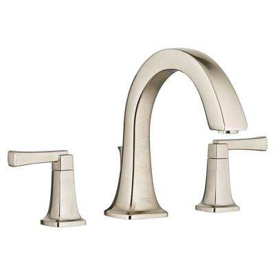 Townsend 2-Handle Deck-Mount Roman Tub Faucet for Flash Rough-in Valves in Brushed Nickel