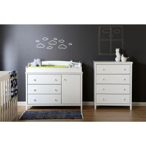 Cotton Candy 4-Drawer Pure White Chest