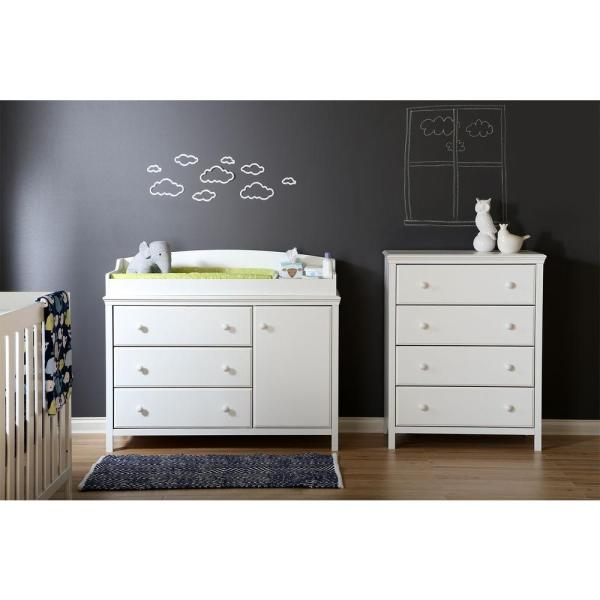 South Shore Cotton Candy 4-Drawer Pure White Chest