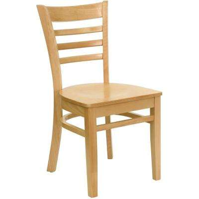 Natural Wood Seat/Natural Wood Frame Wood Side Chair