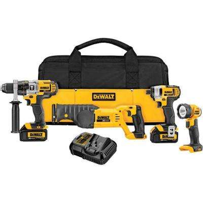 20-Volt MAX Lithium-Ion Cordless Combo Kit (4-Tool) with (2) Batteries 3.0Ah, Charger and Tool Bag