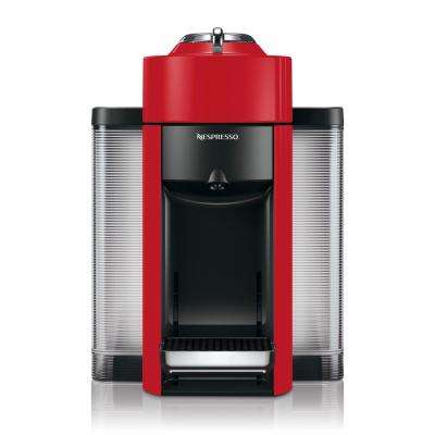 Vertuo Single Serve Coffee and Espresso Machine by De'Longhi in Red