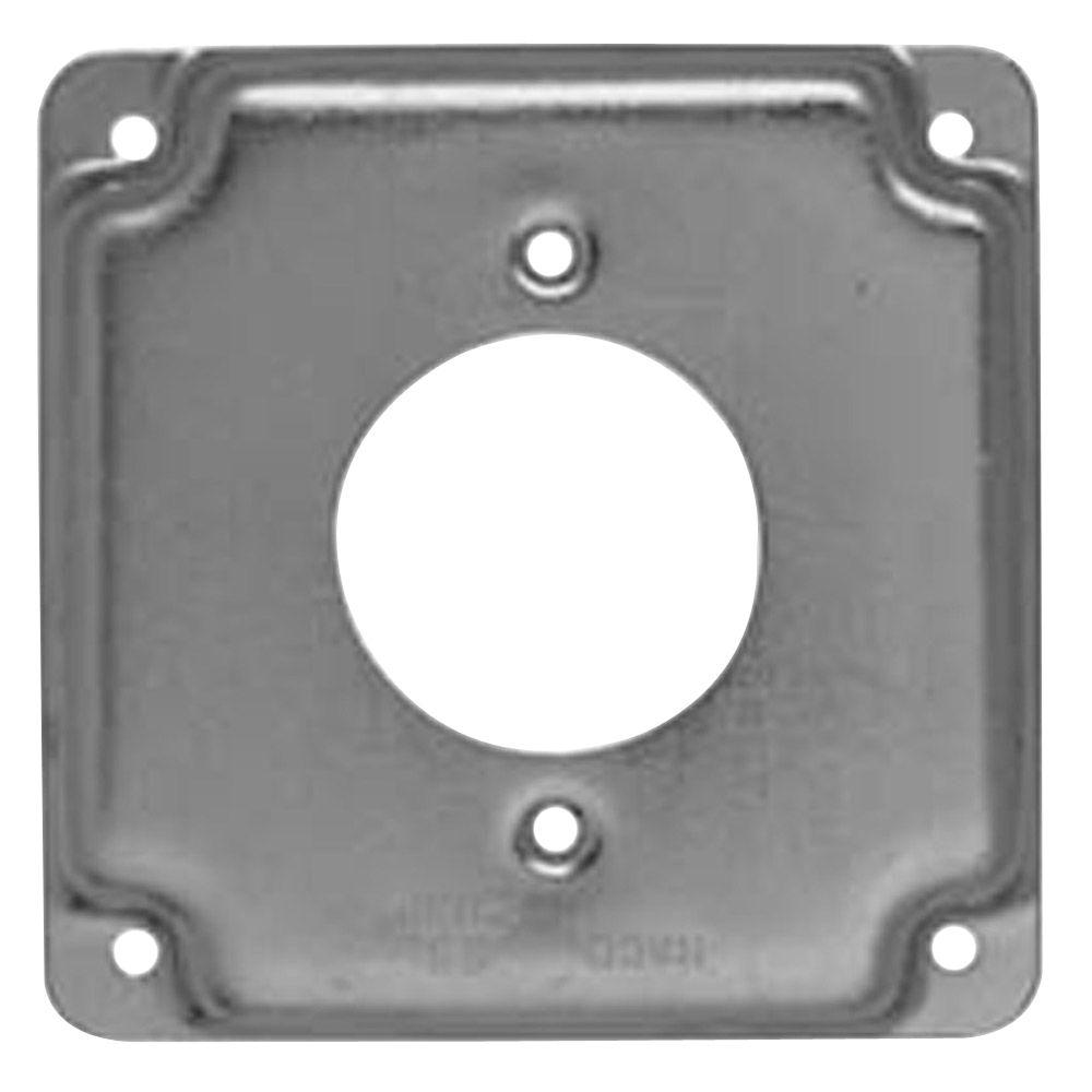 RACO 4 in. Square Exposed Work Cover for Single 30A Round Device (10-Pack)