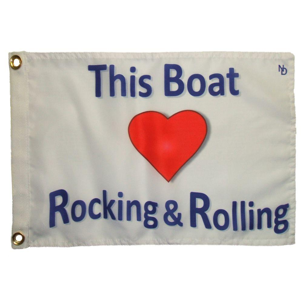 Multinautic 12 in. x 18 in. Rocking and Rolling Funny Flag