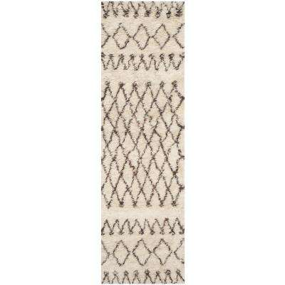 Casablanca Ivory/Natural 2 ft. x 14 ft. Runner Rug