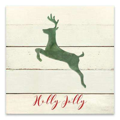 """Holly Jolly Reindeer"" by Carol Robinson Printed Canvas Wall Art"