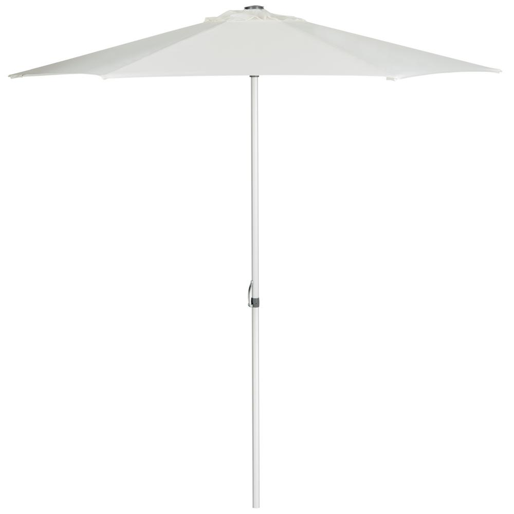 Safavieh Hurst 9 ft. Aluminum/Steel Market Patio Umbrella in Natural