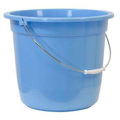 8 Qt. Blue Plastic Bucket
