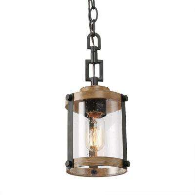 Corta 1-Light Rustic Black Pendant