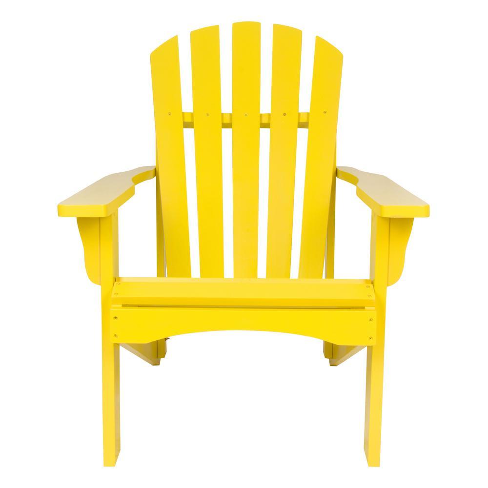 Rockport Lemon Yellow Cedar Wood Adirondack Chair