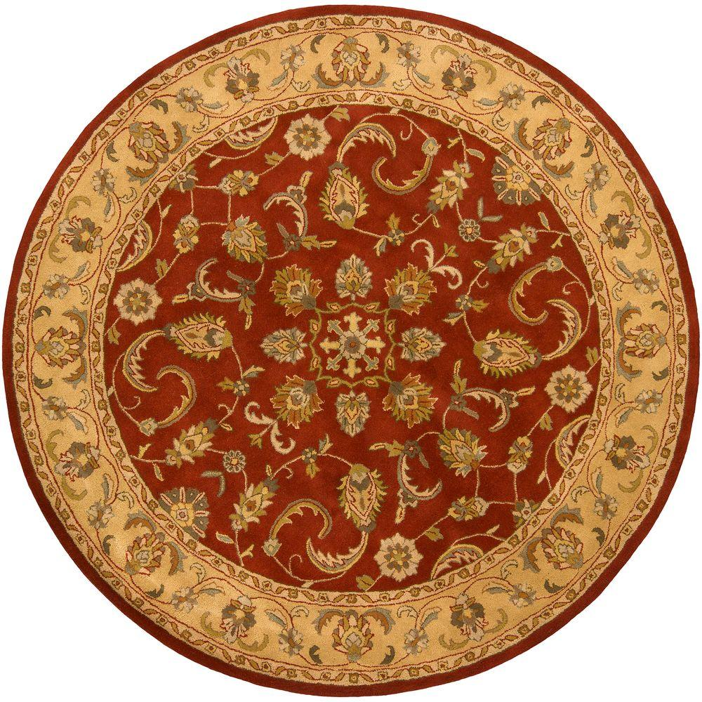 chandra metro red tan blue brown 7 ft 9 in indoor round area rug met560 79rd the home depot. Black Bedroom Furniture Sets. Home Design Ideas