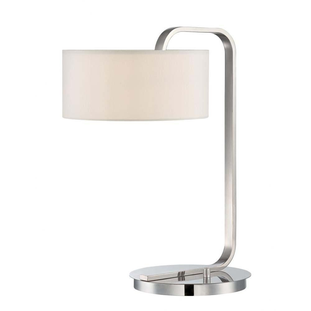 20 in. Polished Chrome Table Lamp