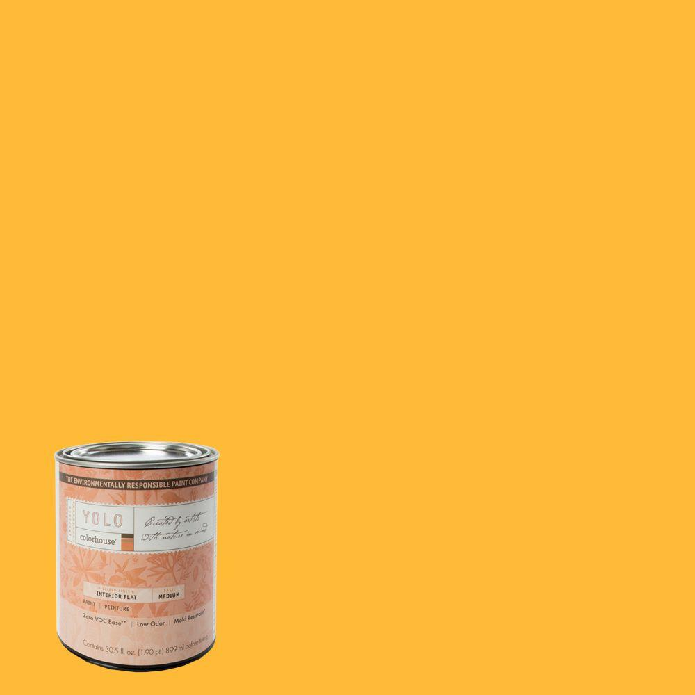 YOLO Colorhouse 1-Qt. Aspire .06 Flat Interior Paint-DISCONTINUED