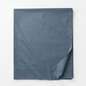 Legends Luxury Dot Mirage Blue 500-Thread Count Cotton Sateen King Flat Sheet