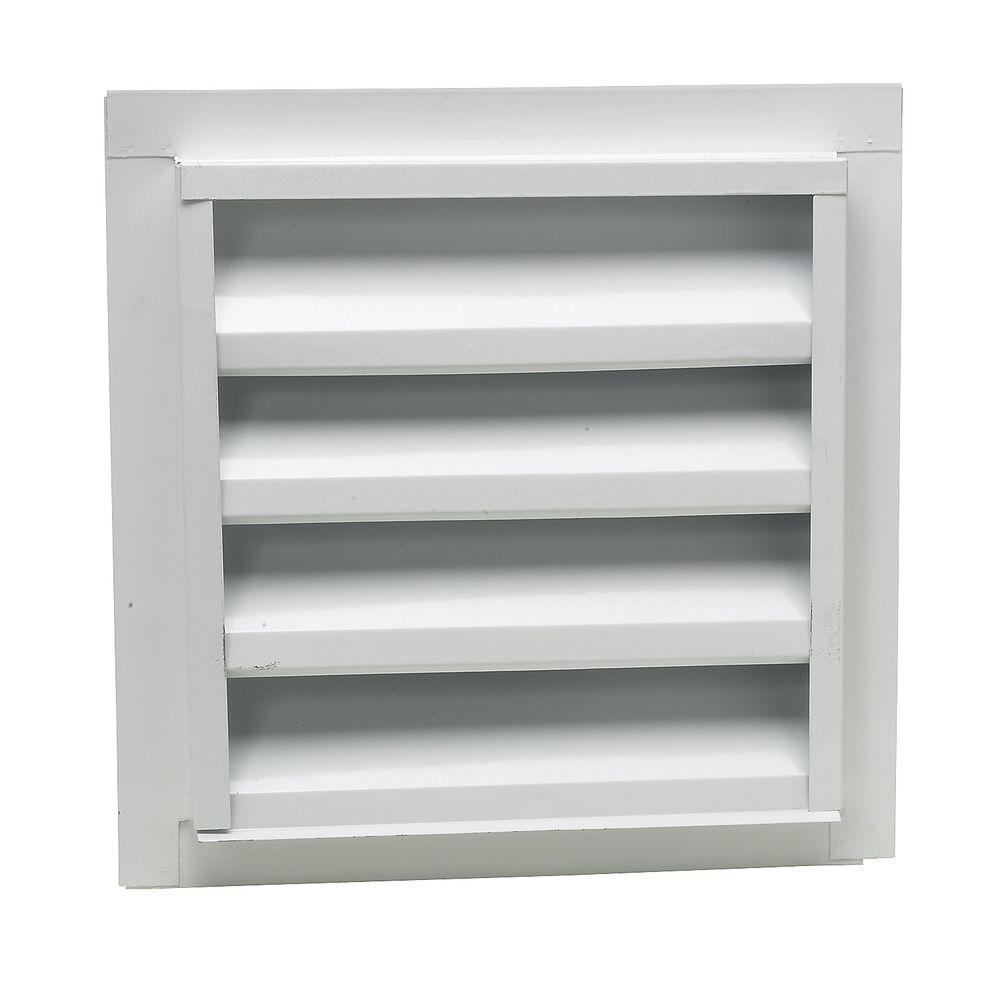 Gibraltar Building Products 14 in. x 24 in. Steel Louvered Gable Attic Vent with  sc 1 st  Home Depot & Gibraltar Building Products 14 in. x 24 in. Steel Louvered Gable ...