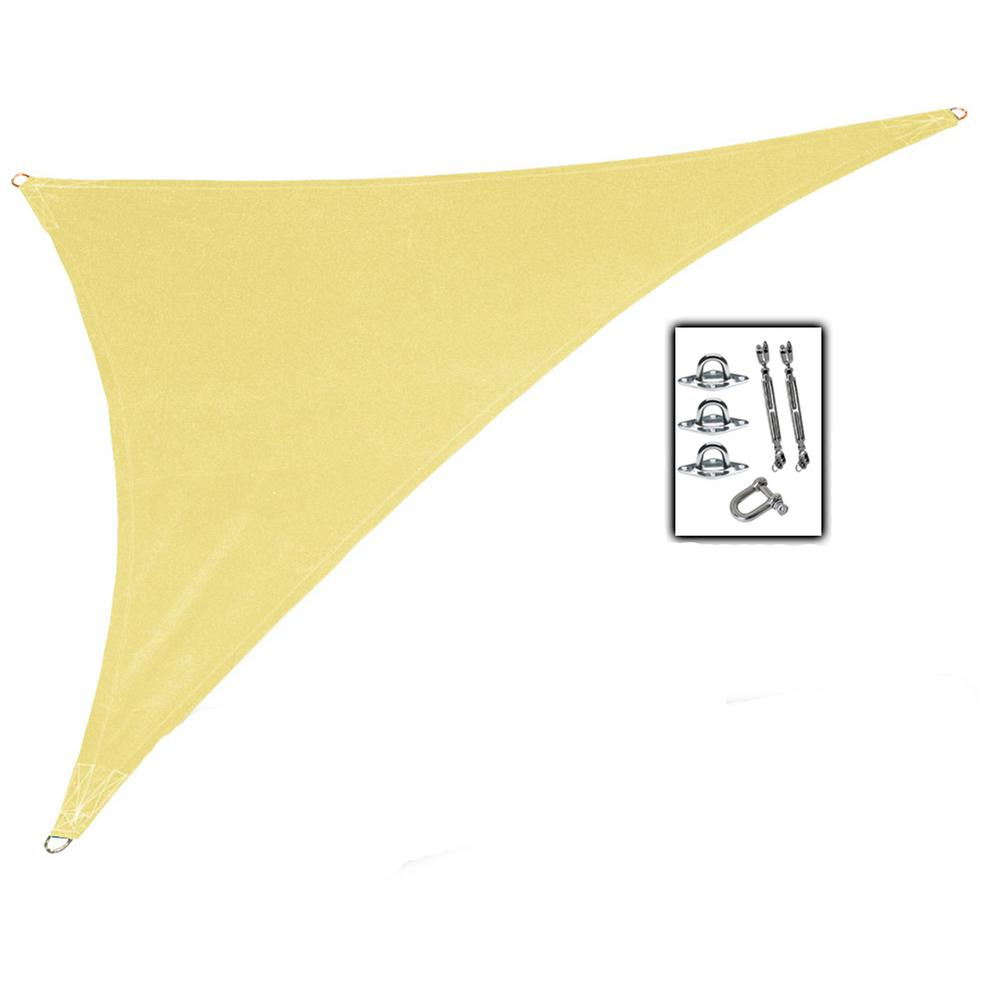 15 ft. x 12 ft. x 10 ft. Beige Right Triangle