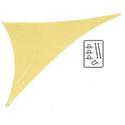 15 ft. x 12 ft. x 10 ft. Beige Right Triangle Ultra Shade Sail with Kit