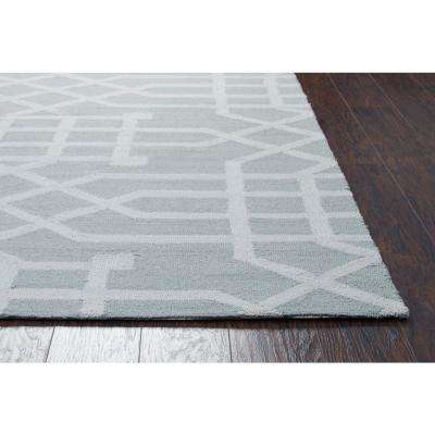 Azzura Hill Gray Geometric 8 ft. x 10 ft. Indoor/Outdoor Area Rug