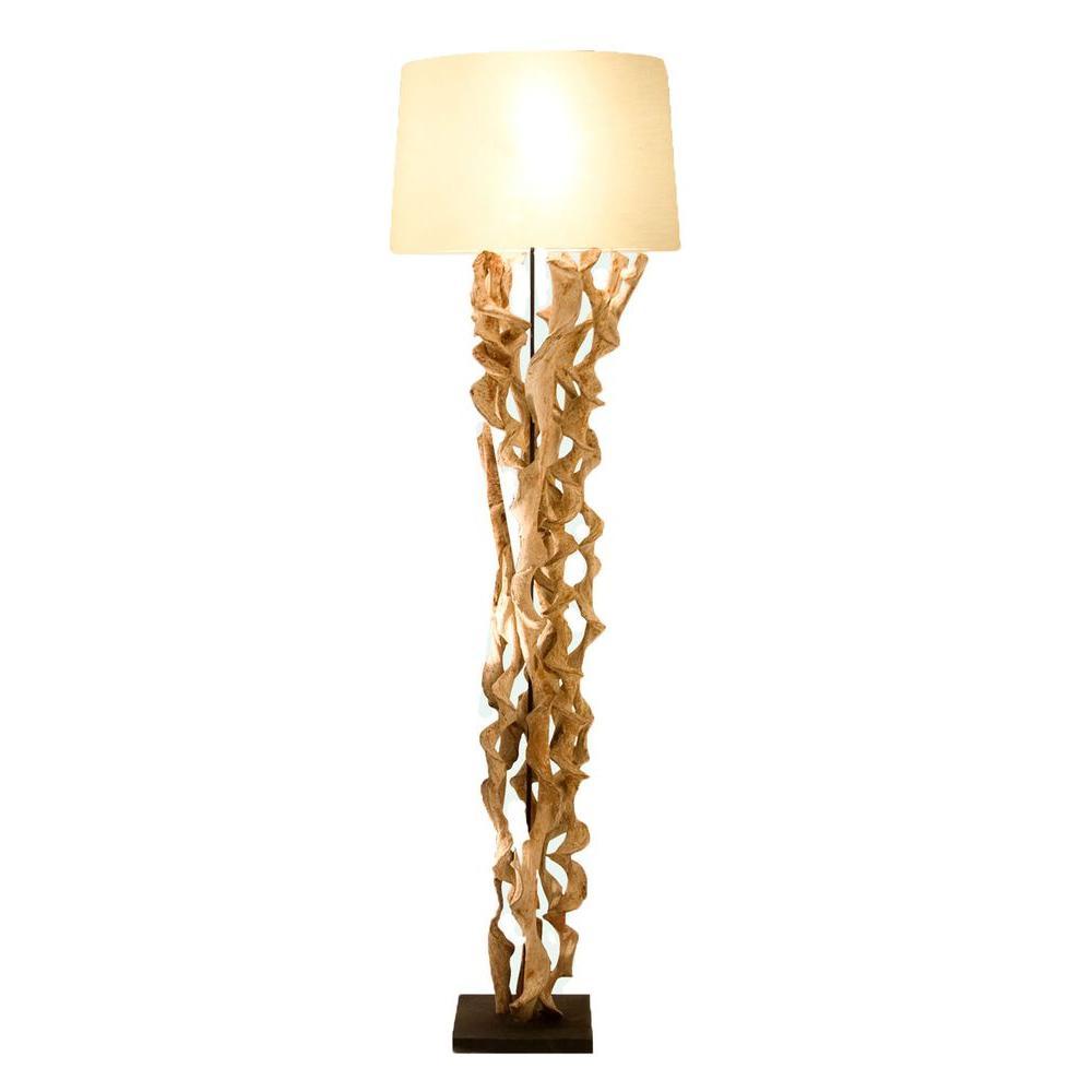 Xavier 59.1 in. Cream Floor Lamp