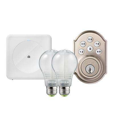 Smart Home Security Kit with Wink Hub, Kwikset SmartCode 910 Deadbolt and 2 Cree Connected LED Bulbs