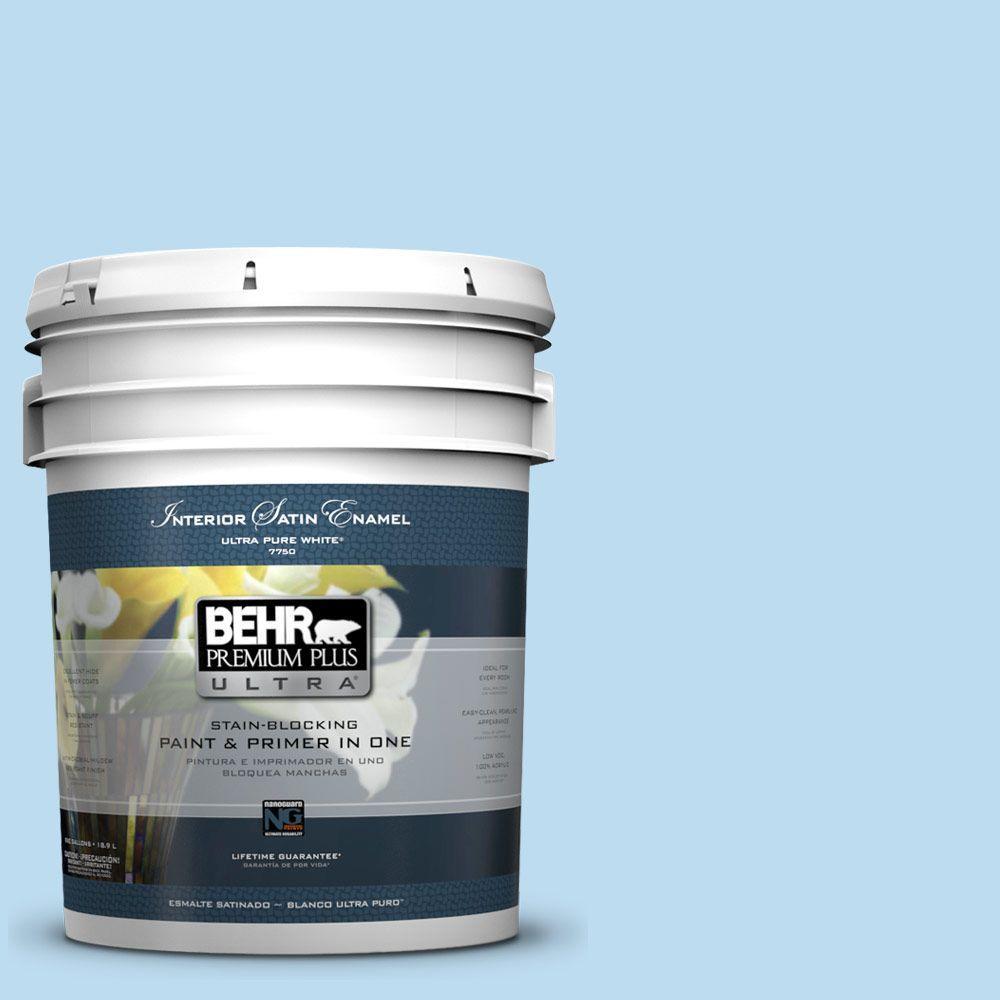 5-gal. #550A-2 Tropical Pool Satin Enamel Interior Paint