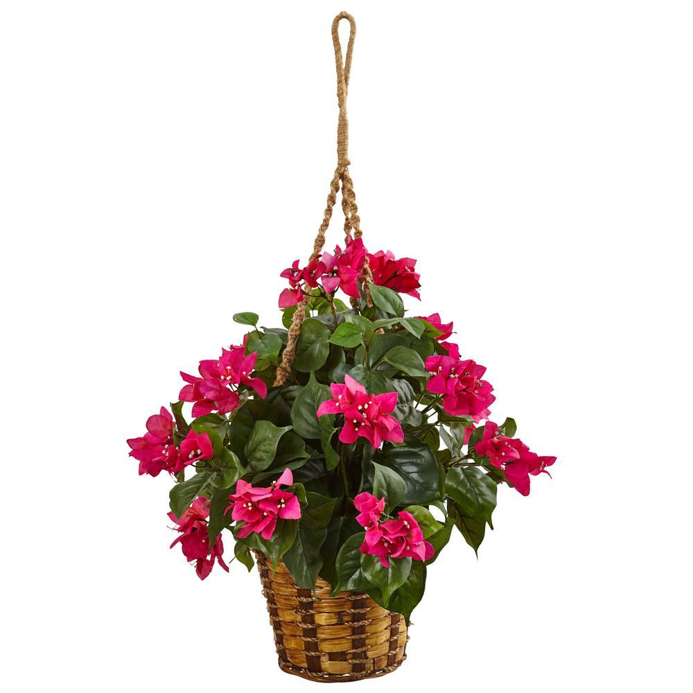 Nearly natural indoor bougainvillea flowering artificial plant in nearly natural indoor bougainvillea flowering artificial plant in hanging basket mightylinksfo