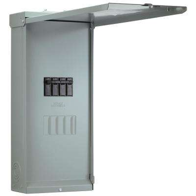 Midwest 200 Amp 4-Space 4-Circuit Main Breaker Load Center with Feed Thru Lugs