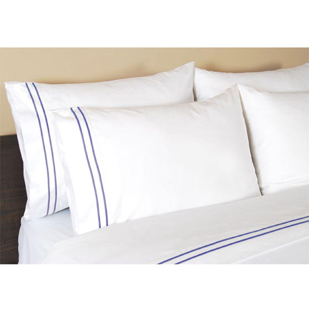 Home Decorators Collection Embroidered Lapis Lazuli Standard Pillowcases