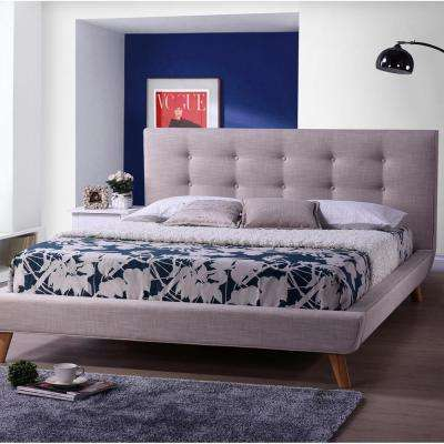 Jonesy Beige Queen Upholstered Bed