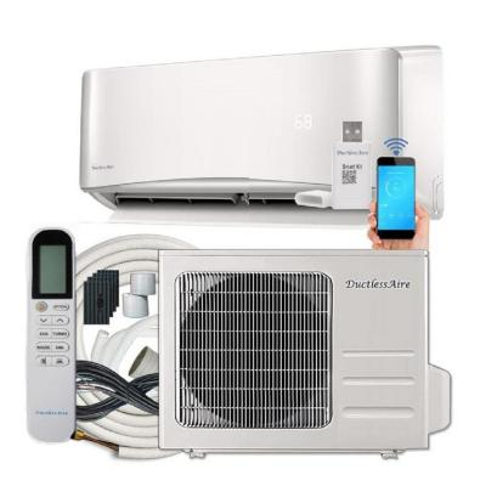 19 SEER 12000 BTU 1 Ton Ductless Mini Split Air Conditioner with Heat Pump Variable Speed Inverter - 220-Volt/60Hz